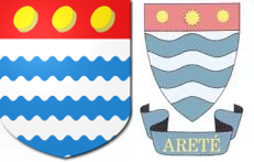 Left, the Astrey of Harlington and Henbury arms, and right, the old Henbury School logo (as used on the school badge)