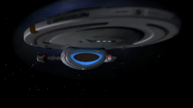 The USS Voyager - taken from an episode of Star Trek Voyager
