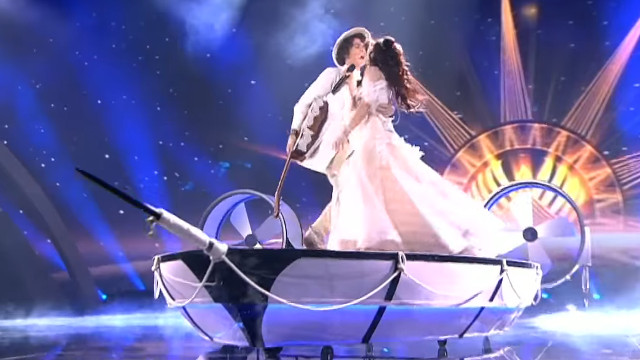 The Belarus entry - the potential for a costume mishap is probably why the fans weren't actually spinning!