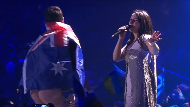 Jamala - Ukraine's 2016 winner - performs during a full moon